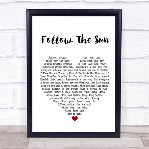 Xavier Rudd Follow The Sun Heart Song Lyric Quote Print