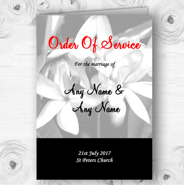 Grey Lily Personalised Wedding Double Sided Cover Order Of Service