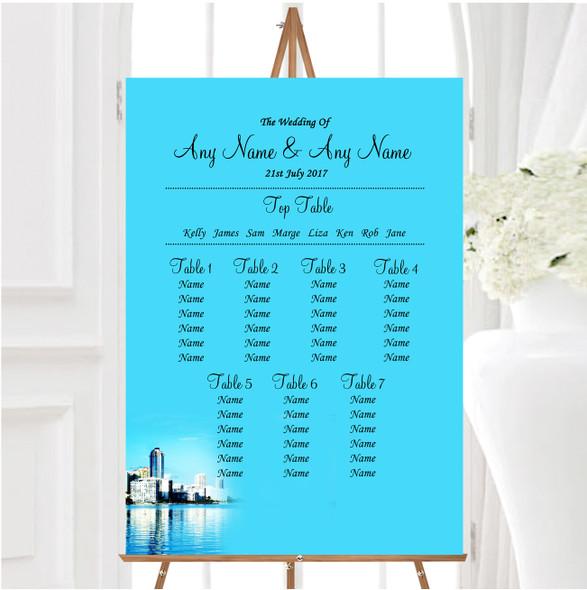 Miami Florida Personalised Wedding Seating Table Plan