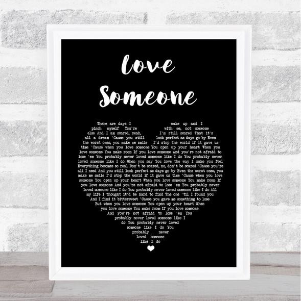 Lukas Graham Love Someone Black Heart Song Lyric Print