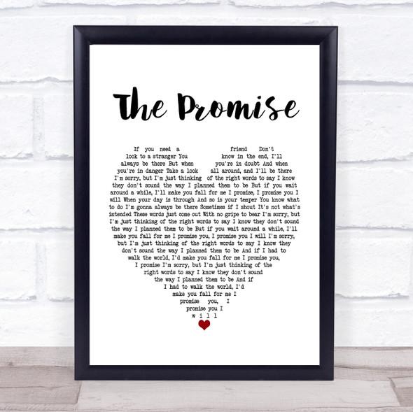 Sturgill Simpson The Promise White Heart Song Lyric Print