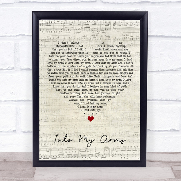 Nick Cave & The Bad Seeds Into My Arms Script Heart Song Lyric Print