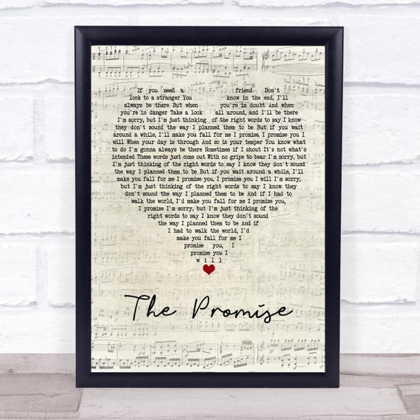 Sturgill Simpson The Promise Script Heart Song Lyric Print
