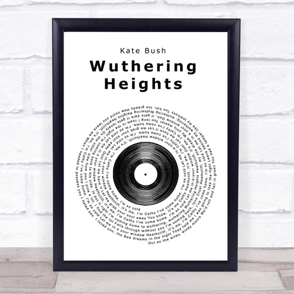 Kate Bush Wuthering Heights Vinyl Record Song Lyric Print