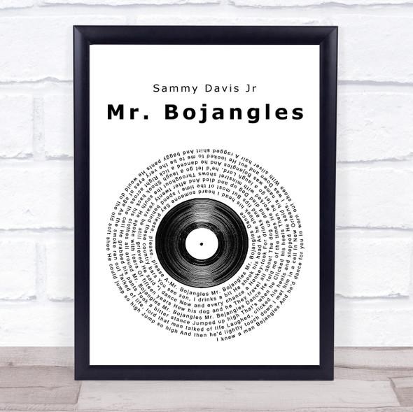Sammy Davis Jr Mr. Bojangles Vinyl Record Song Lyric Print
