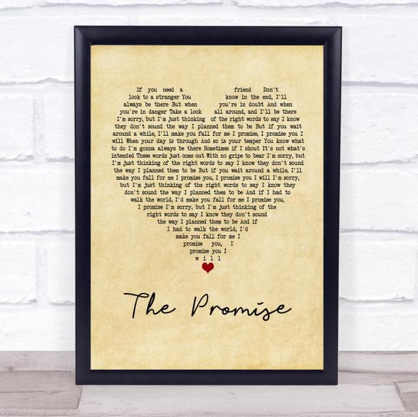 Sturgill Simpson The Promise Vintage Heart Song Lyric Print