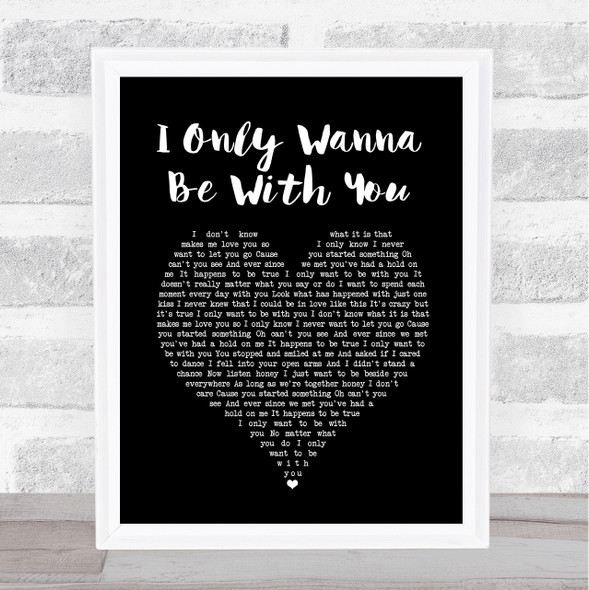 Volbeat I Only Wanna Be With You Black Heart Song Lyric Print
