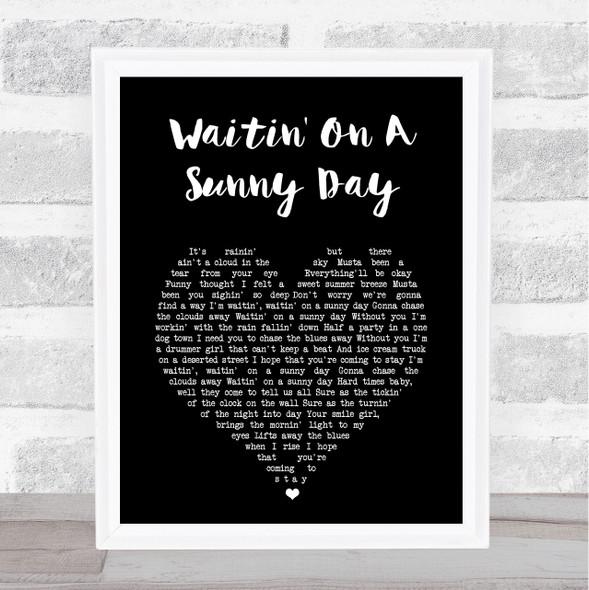 Bruce Springsteen Waitin' On A Sunny Day Black Heart Song Lyric Print