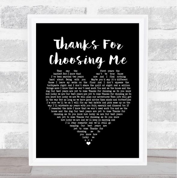 Lucy Spraggan Thanks For Choosing Me Black Heart Song Lyric Print