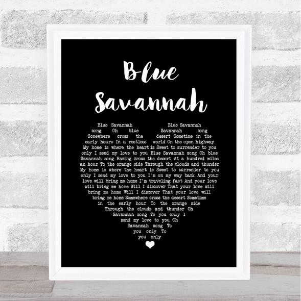 Erasure Blue Savannah Black Heart Song Lyric Print