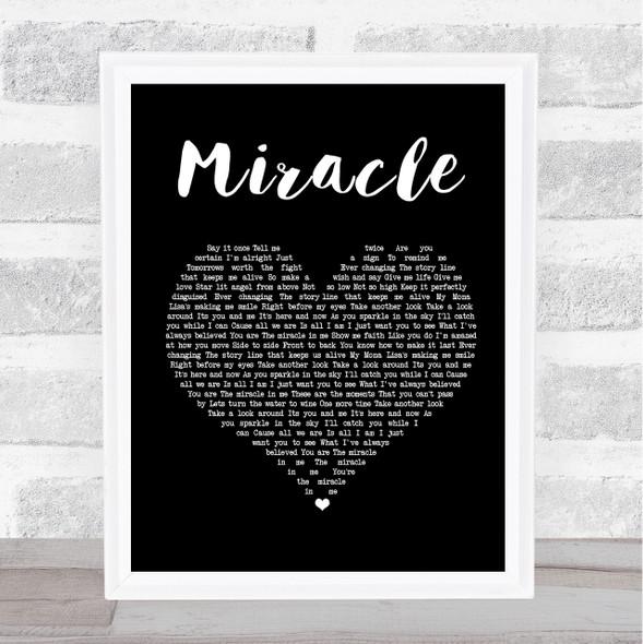 Shinedown Miracle Black Heart Song Lyric Print