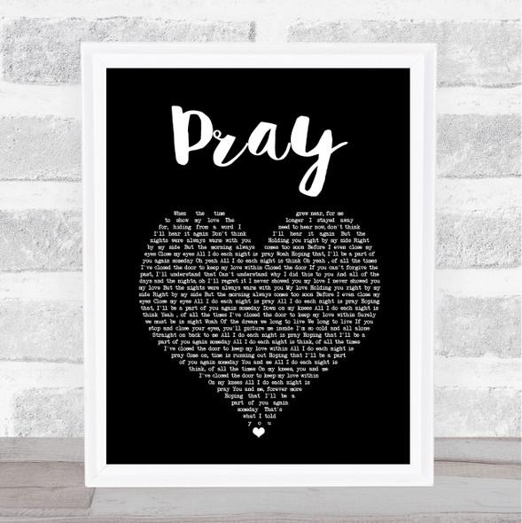 Take That Pray Black Heart Song Lyric Print