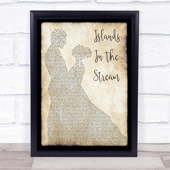 Kenny Rogers & Dolly Parton Islands In The Stream Man Lady Dancing Lyric Print