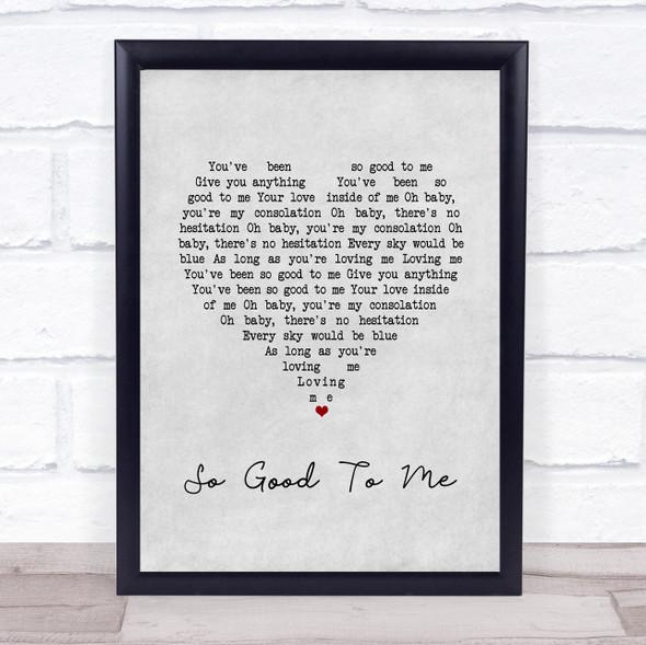 Chris Malinchak So Good To Me Grey Heart Song Lyric Print