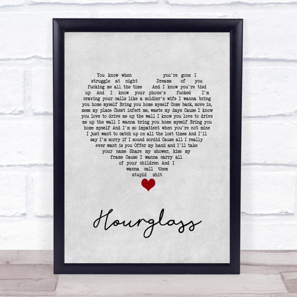 Catfish And The Bottlemen Hourglass Grey Heart Song Lyric Print