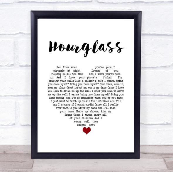 Catfish And The Bottlemen Hourglass White Heart Song Lyric Print