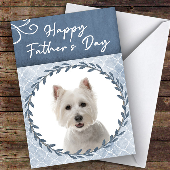 West Highland White Terrier Dog Animal Personalised Father's Day Card