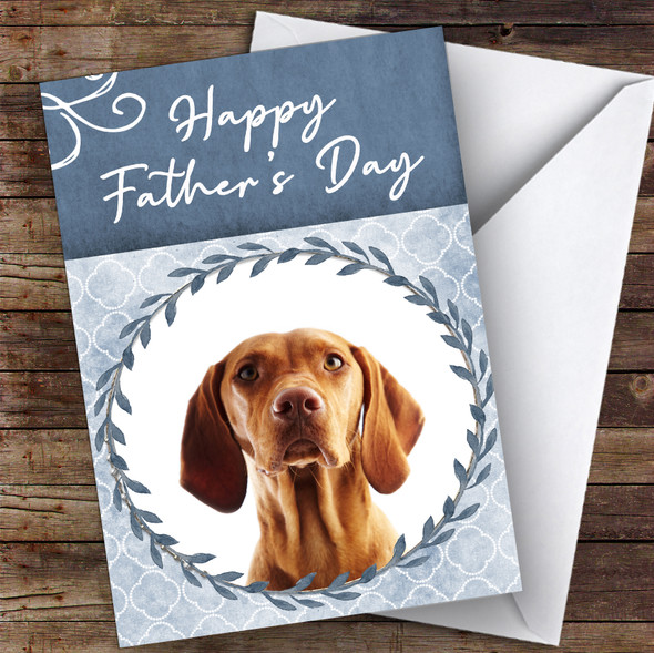 Hungarian Vizsla Pointer Dog Traditional Animal Personalised Father's Day Card
