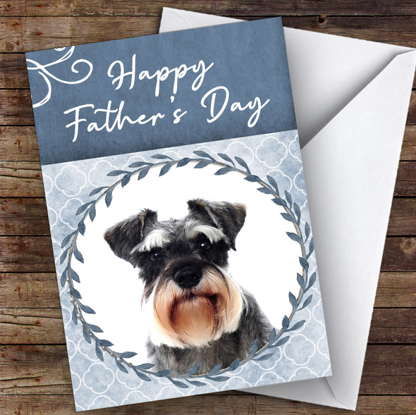 Miniature Schnauzer Dog Traditional Animal Personalised Father's Day Card