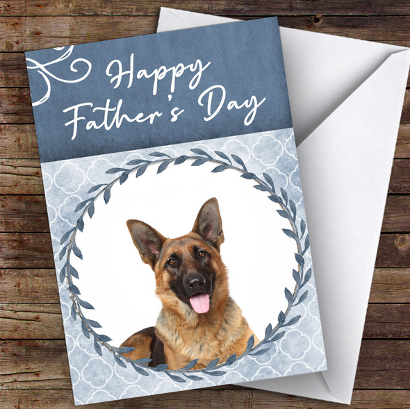 German Shepherd Dog Traditional Animal Personalised Father's Day Card