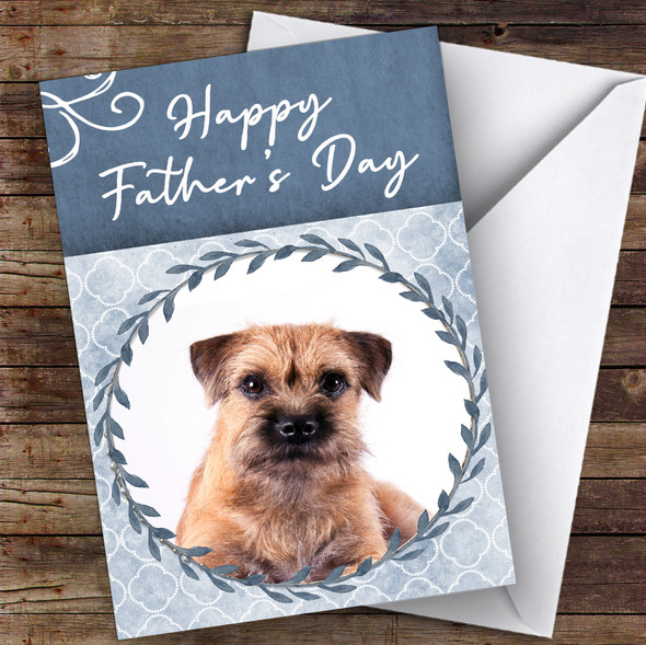 Border Terrier Dog Traditional Animal Personalised Father's Day Card