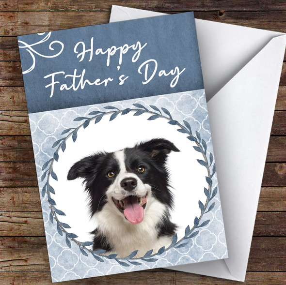 Border Collie Dog Traditional Animal Personalised Father's Day Card