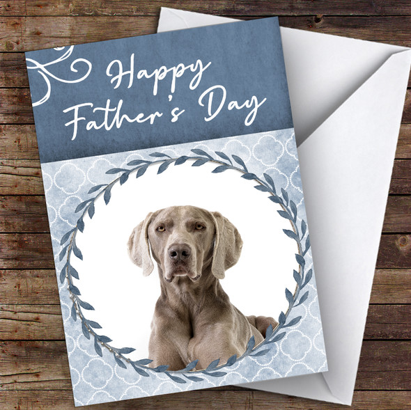 Weimaraner Dog Traditional Animal Personalised Father's Day Card