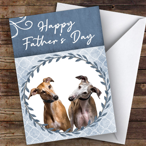 Greyhound Dog Traditional Animal Personalised Father's Day Card