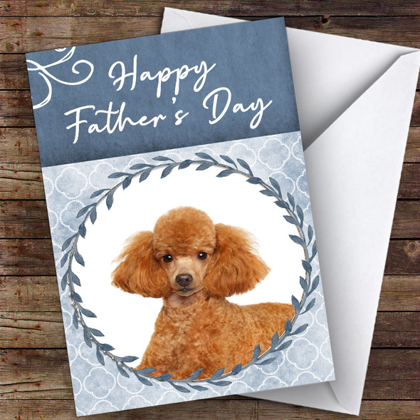 Poodle Dog Traditional Animal Personalised Father's Day Card