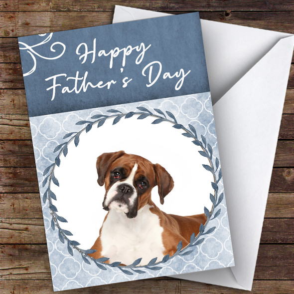 Boxer Dog Traditional Animal Personalised Father's Day Card