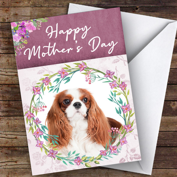 Cavalier King Charles Spaniel Dog Animal Personalised Mother's Day Card