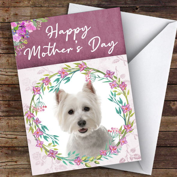 West Highland White Terrier Dog Animal Personalised Mother's Day Card