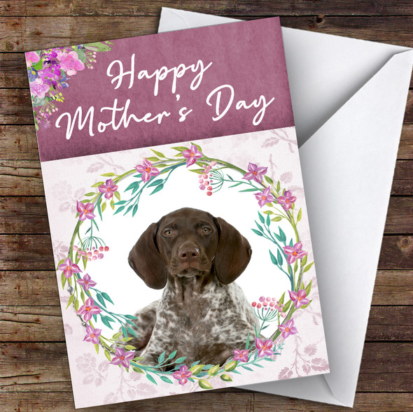 German Shorthaired Pointer Dog Traditional Animal Personalised Mother's Day Card