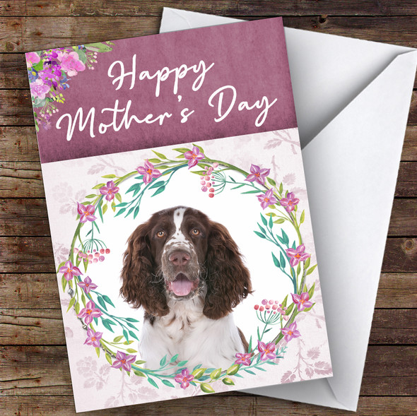 English Springer Spaniel Dog Traditional Animal Personalised Mother's Day Card