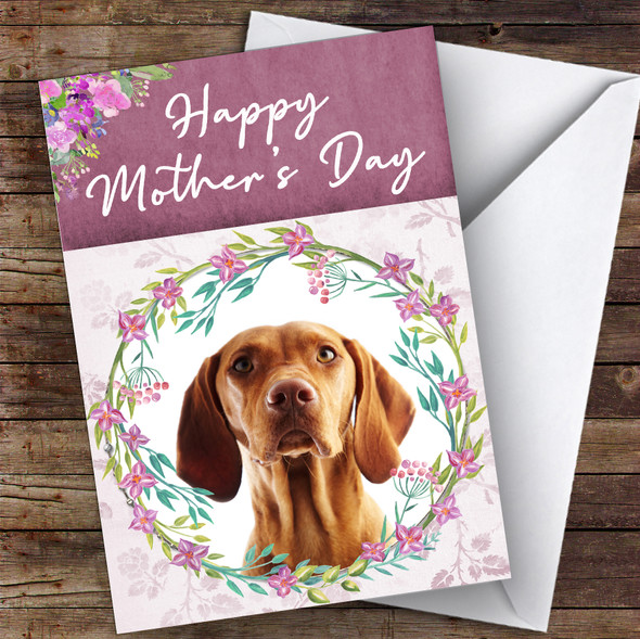 Hungarian Vizsla Pointer Dog Traditional Animal Personalised Mother's Day Card