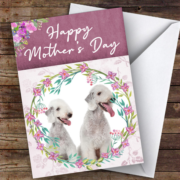 Bedlington Terrier Dog Traditional Animal Personalised Mother's Day Card