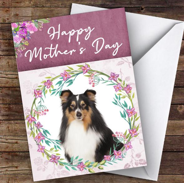 Shetland Sheepdog Dog Traditional Animal Personalised Mother's Day Card