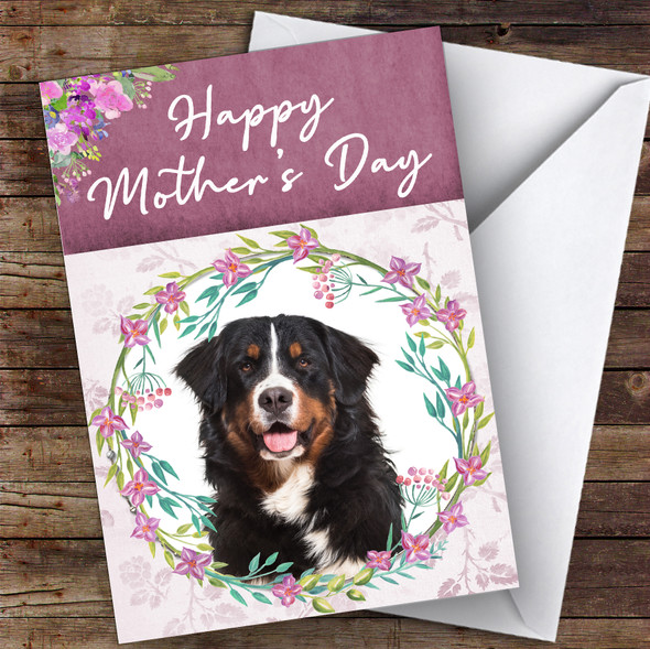 Bernese Mountain Dog Traditional Animal Personalised Mother's Day Card