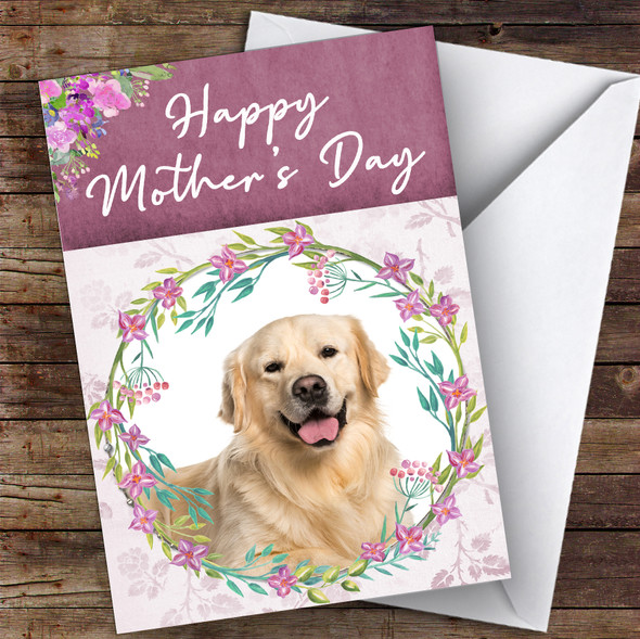 Golden Retriever Dog Traditional Animal Personalised Mother's Day Card