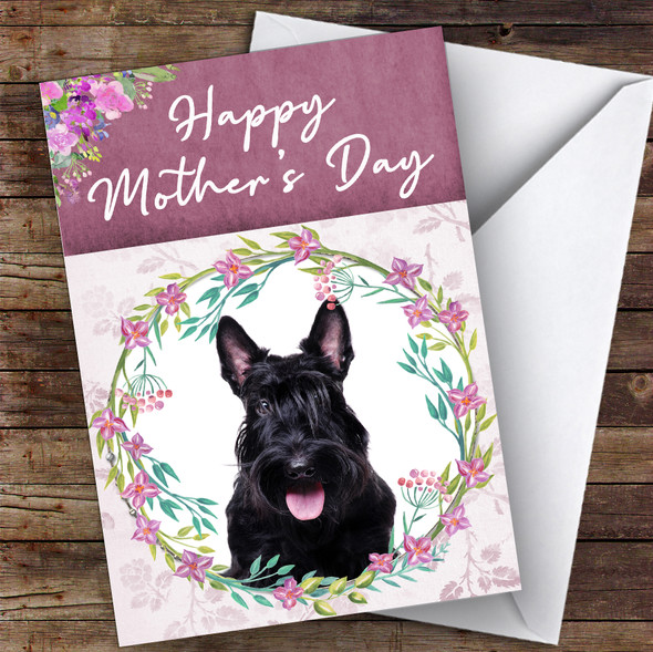 Scottish Terrier Dog Traditional Animal Personalised Mother's Day Card