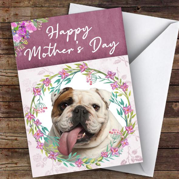 English Bulldog Dog Traditional Animal Personalised Mother's Day Card