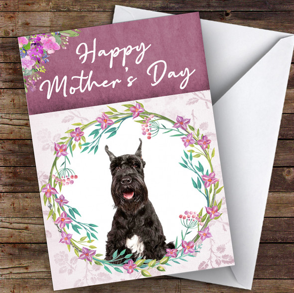 Giant Schnauzer Dog Traditional Animal Personalised Mother's Day Card