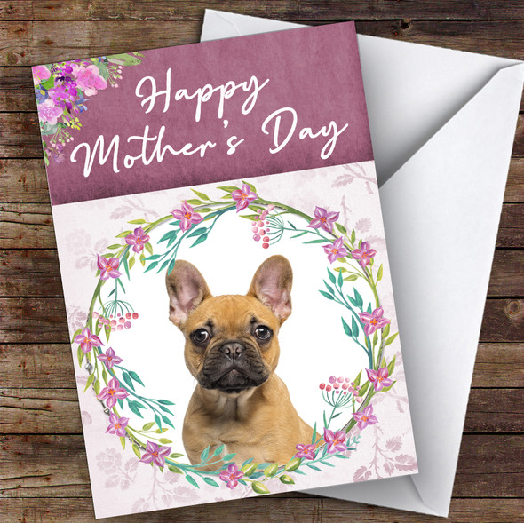 French Bulldog Dog Traditional Animal Personalised Mother's Day Card