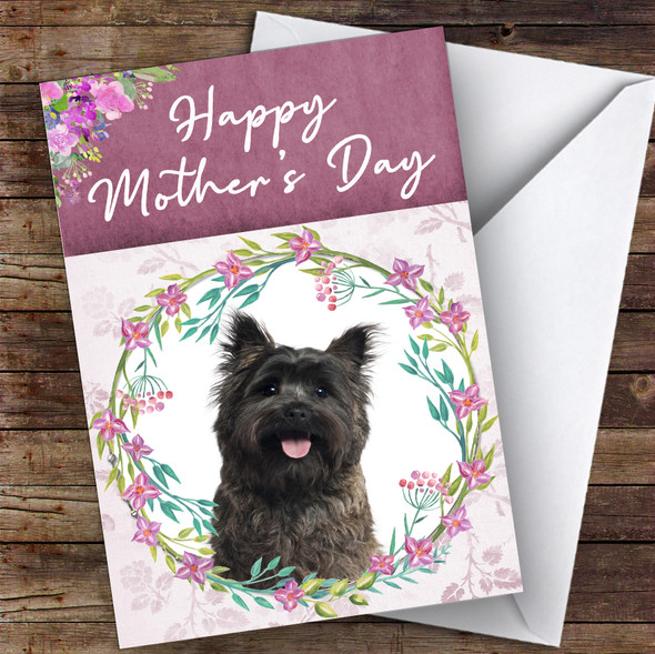 Cairn Terrier Dog Traditional Animal Personalised Mother's Day Card