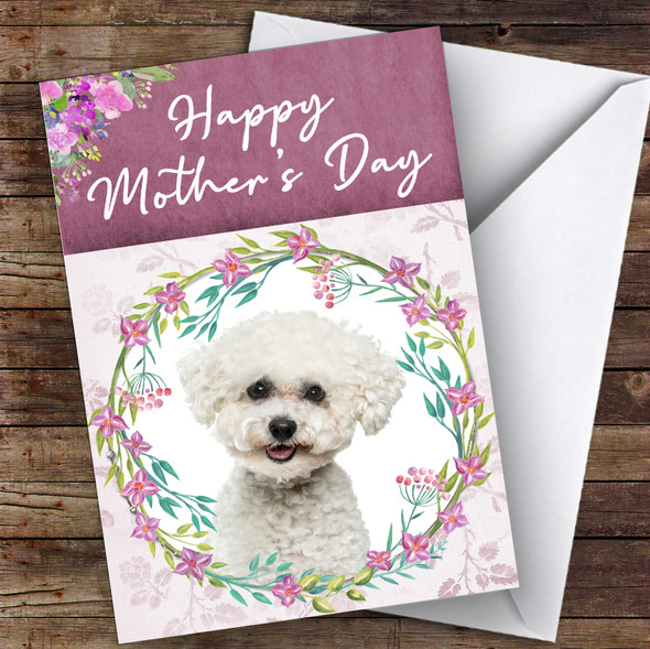 Bichon Frise Dog Traditional Animal Personalised Mother's Day Card