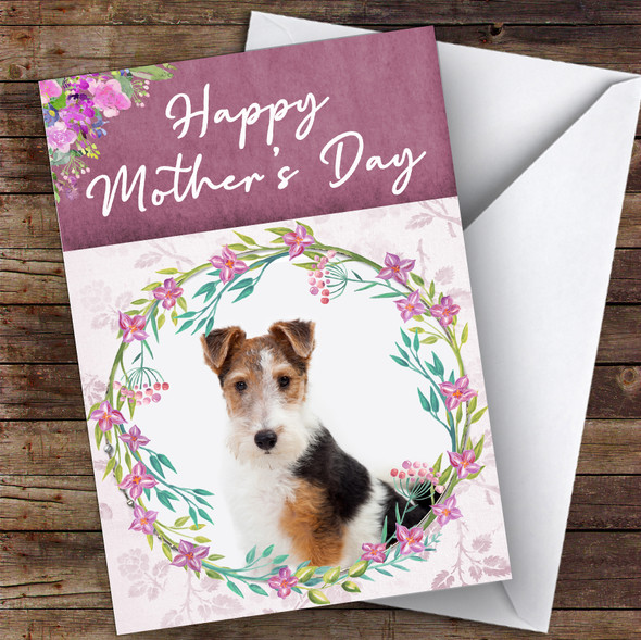 Fox Terrier Dog Traditional Animal Personalised Mother's Day Card