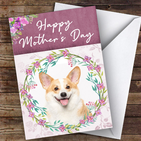 Welsh Corgi Dog Traditional Animal Personalised Mother's Day Card