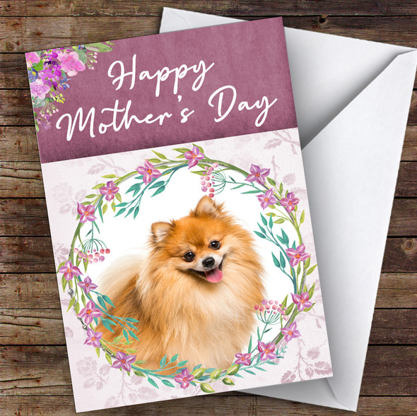 Pomeranian Dog Traditional Animal Personalised Mother's Day Card