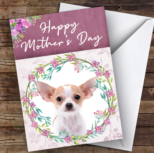 Chihuahua Dog Traditional Animal Personalised Mother's Day Card
