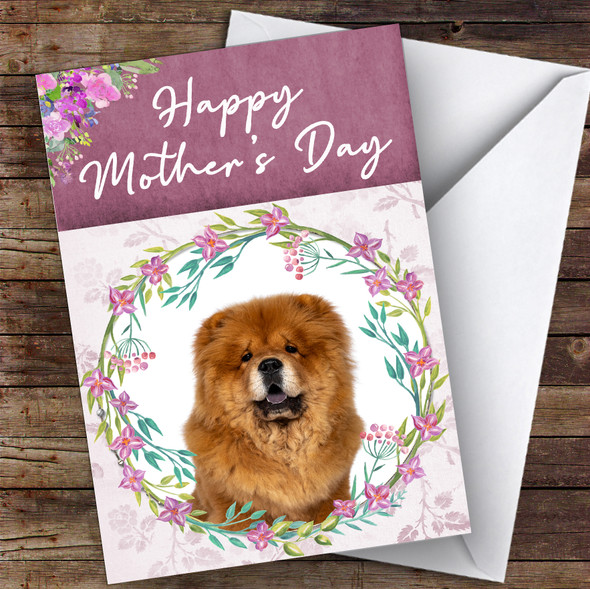 Chow Chow Dog Traditional Animal Personalised Mother's Day Card